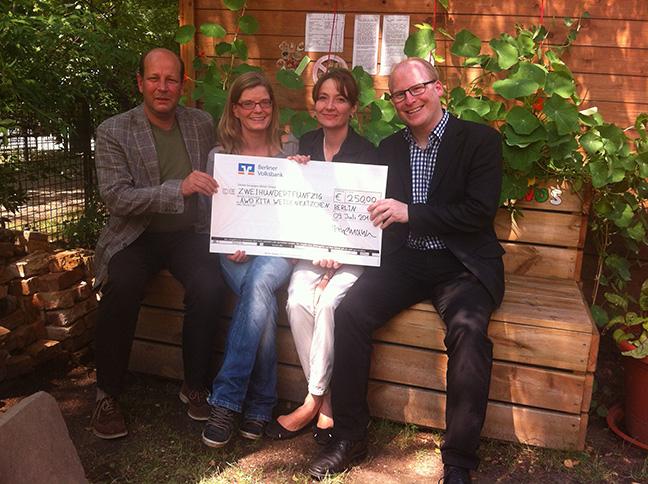 Engagement-Preis 2014: 1050 Euro an soziale Projekte in Friedrichshain