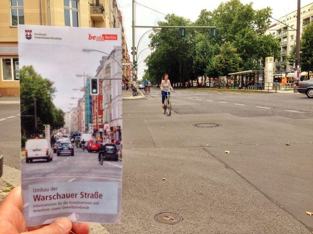 Modernisierung der Warschauer Straße - Mehr Sicherheit für Radfahrer und Fußgänger
