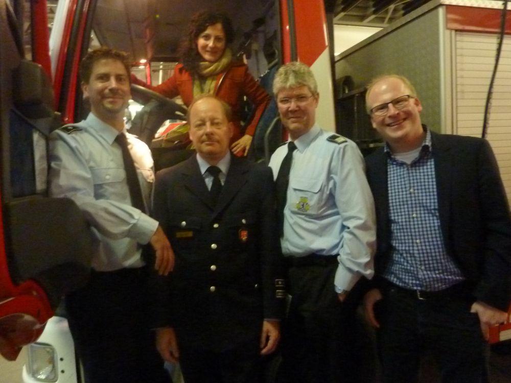 Berufsfeuerwehr und Freiwillige Feuerwehr Friedrichshain besucht