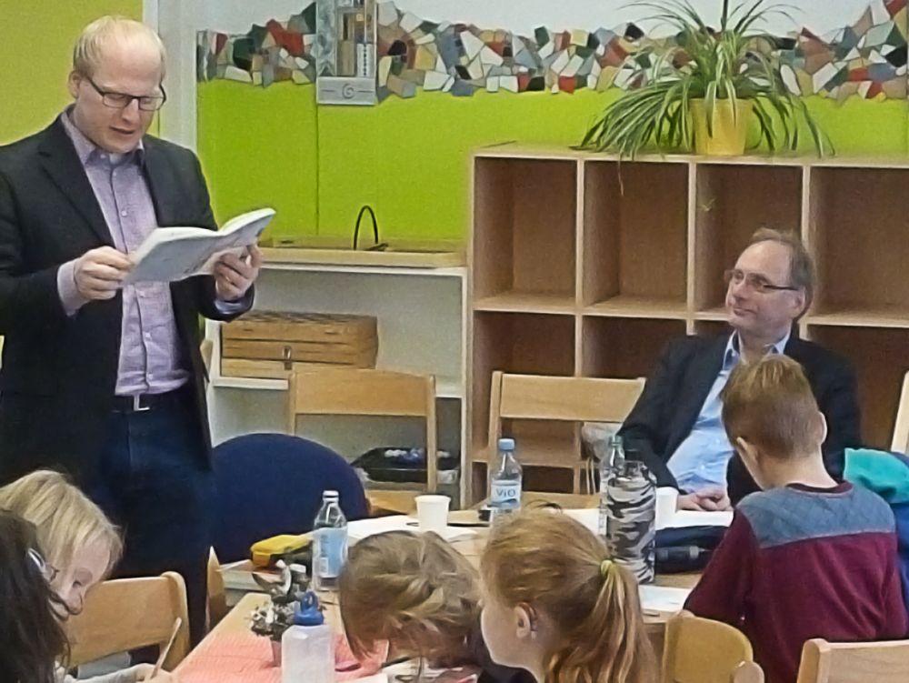 Zum bundesweiten Vorlesetag in der Modersohn Grundschule